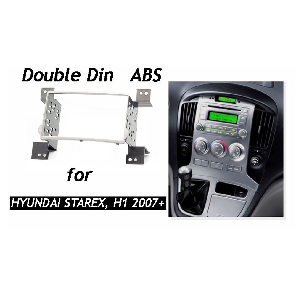 Aliexpress com buy double din car radio fascia for hyundai h1 starex iload i800 imax headunit dash kit installation facia face plate panel frame from