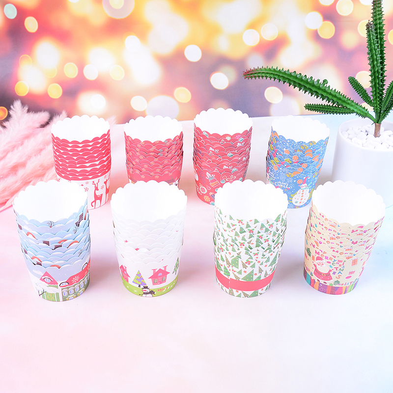 Cupcake Home Decor: Cupcake Case Paper Cups Christmas Cupcake Holder Liners