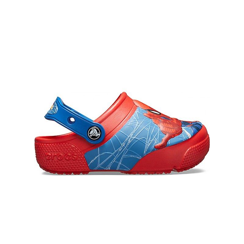 CROCS CrocsFL Spiderman LTS CLG K KIDS or boys/for girls, children, kids TmallFS 1pcs newest the avengers figure anime interesting ironman spiderman captain america glove emitter cosplay toys for children