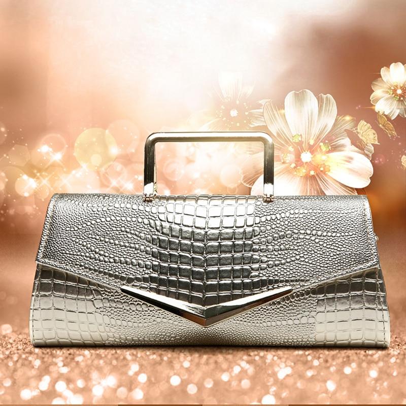 Luxury Womens Bag Alligator PU Patent Leather Banquet Clutch Bag lady Handbag Fashion Chain Shoulder Crossbody Bag Handbag Party