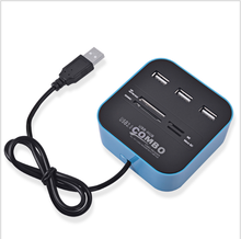 USB Hub 2.0 480Mbps USB Combo Card Reader All In One Multi USB Splitter For MS M2 SD MMC TF Portable For MacBook Air PC Laptop