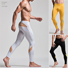 Superbody Men Long Johns Smooth Thin Velvet Leggings Home Based Therma