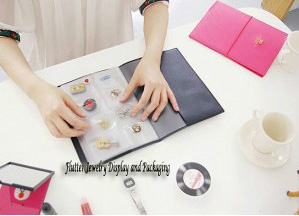 Jewelry Storage Book Earring Bag Fashion Portable Bracelet Necklace Lather Ring Pendant Packaging Case Travel Accesseries In Display