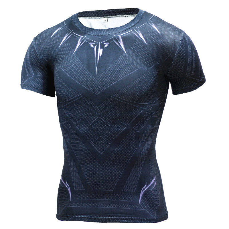 Compression shirt brand clothing t shirts crossfit t-shirt men casual short sleeve superhero homme fitness tops camiseta mma-0