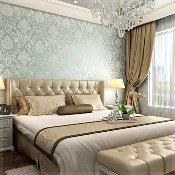 Wallpaper Design For Bedroom: European Fashion Woven Wallpaper Roll Flocking Glitter