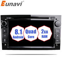 Eunavi Quad Core Android 8.1 2 din Car DVD Stereo for Vauxhall Opel Astra H G Vectra Antara Zafira Corsa GPS Navi Radio 2G