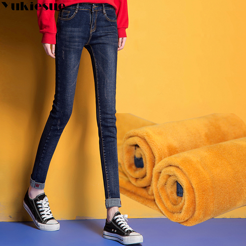 Vintage jeans women embroidery Plus size  2017 winter warm thicken skinny denim casual pencil pants female jeans femme mujer new female casual sexy rose denim jeans with embroidery ripped vintage pencil jeans for women cuffs long pants plus size 2xl