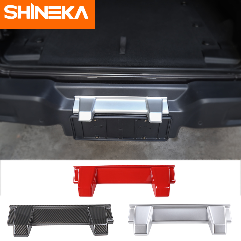 SHINEKA Car Covers For Jeep Wrangler JL 2018+ Car Rear License Plate Light Decorative Stickers For Jeep Wrangler JL Accessories
