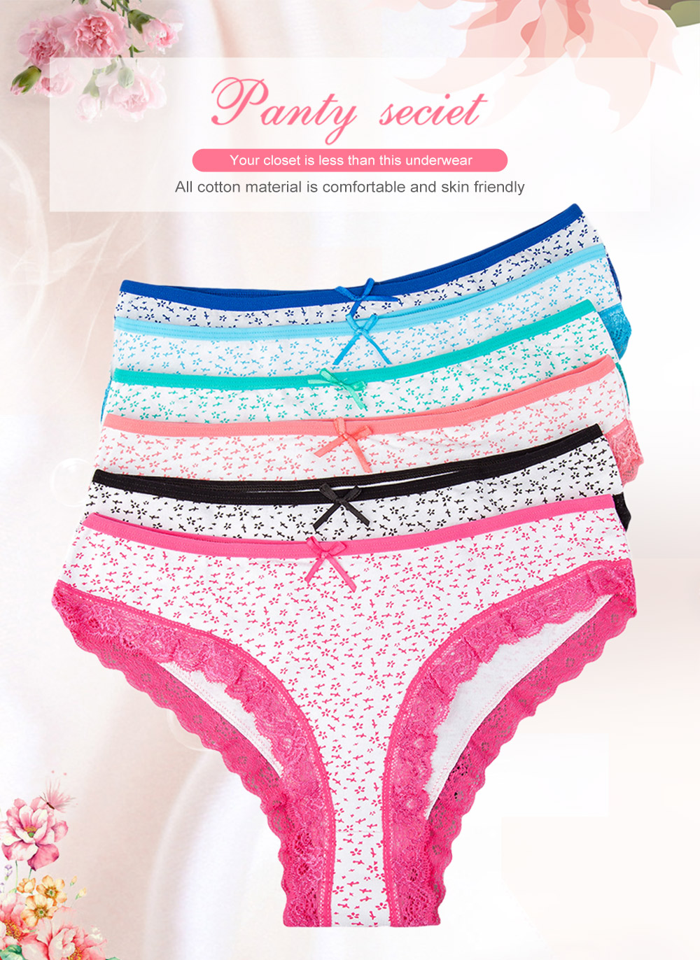 1cdae275ad1f 2019 LOLOISIS Sexy Cotton Panties Women Cute Lace Briefs Women ...