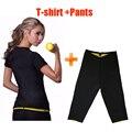 Twinset Tramo Super Hot Body Shapers formación kits Camiseta y pantalones de Neopreno Que Adelgaza la Camiseta quemar grasa movimiento sobretodo