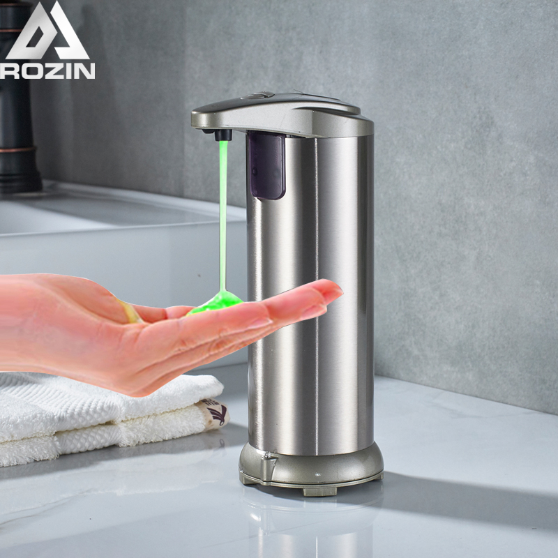 Automatic Liquid Soap Dispenser Built-in infrared Bathroom Sensor Sanitizer Soap Dispenser Infrared Hands Free Soap Containers free shipping brass black liquid soap dispenser bathroom kitchen stainless steel touch soap dispenser wall mounted 1000ml