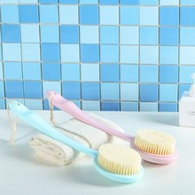 BF040 Bathing brush handle back massage bath brush fur rubbing bath brush artifact removal 9*38cm free shipping free shipping comfortable seven lingzhu live ribs massage brush dragon ball rotation massage