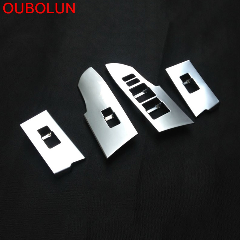 Tomefon 4pcs For Toyota Corolla 2017 Facelift Abs Chrome: OUBOLUN ABS Chrome For Toyota Corolla 2014 2015 2016 2017