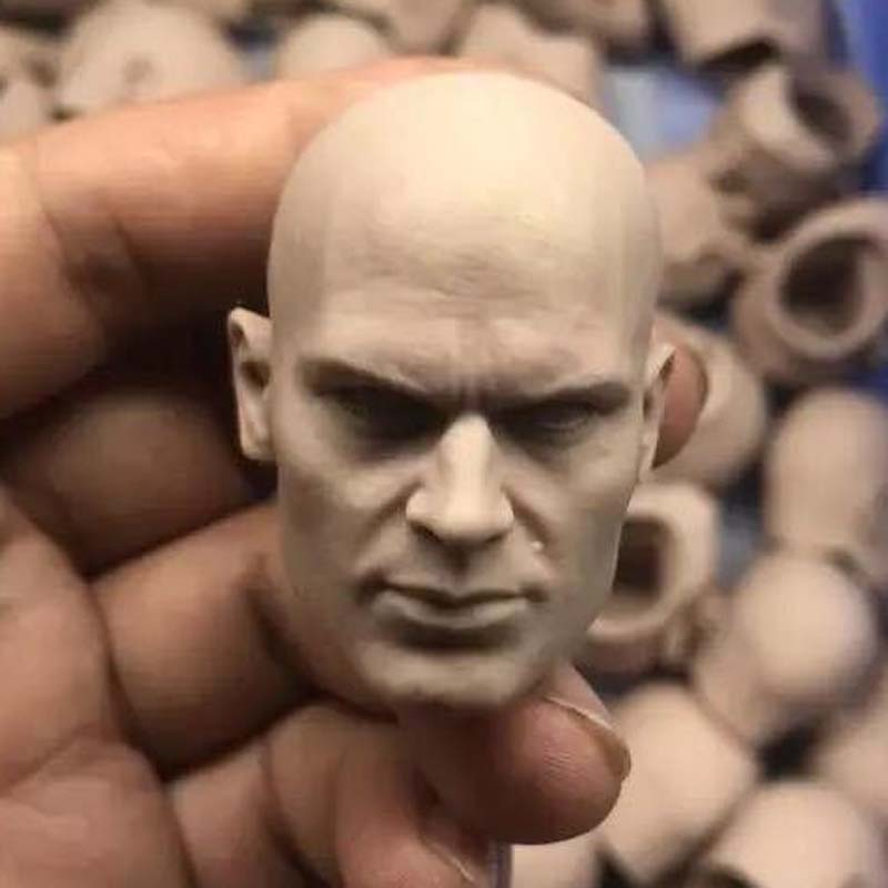 1/6 Scale Hitman Codename 47 Unpainted Head Sculpt Art practice colouring image