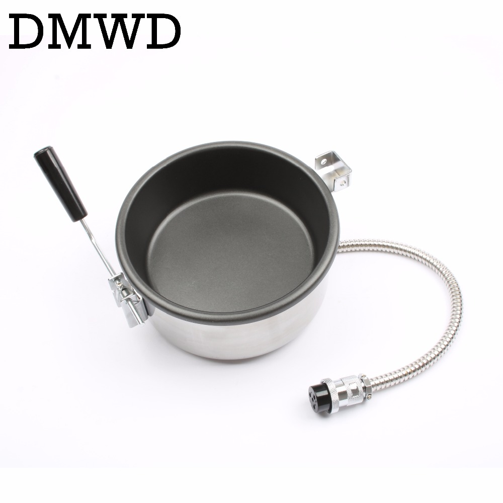 DMWD popcorn pot commercial popcorn maker hand-cranked for 8 ounce electric popcorn machine 8oz professional accessories 25mm pop 06 economic popcorn maker commercial popcorn machine with cart