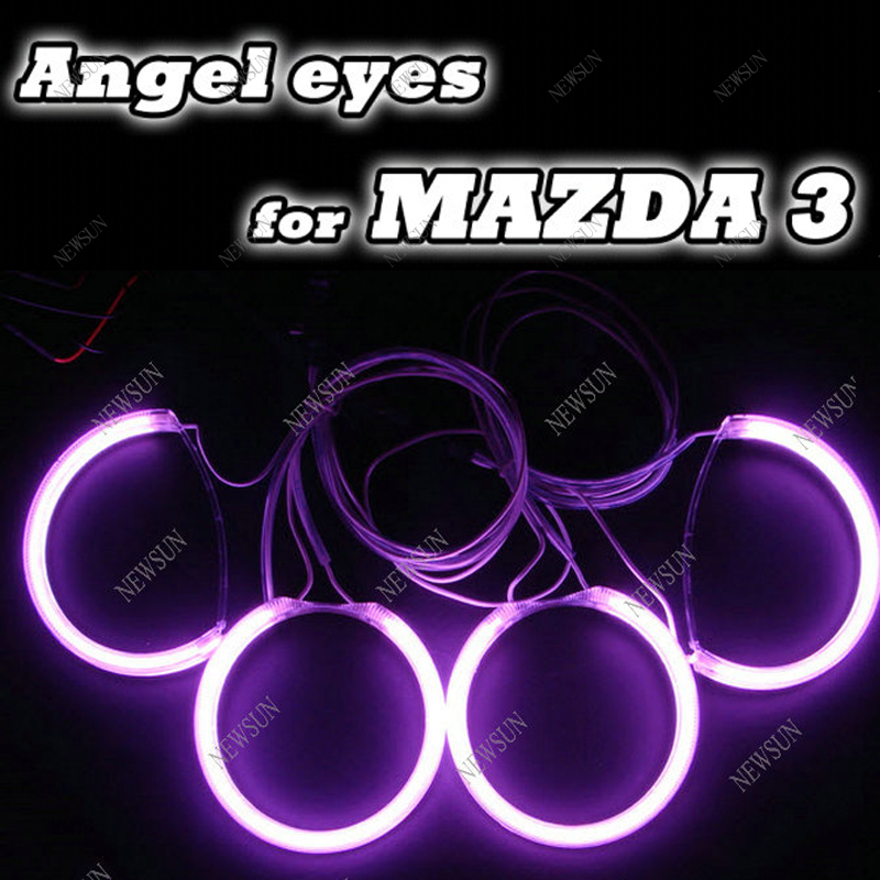 High power 12V CCFL Angel eyes kit for Mazda3 12V ccfl angel eyes halo rings kit with inverters factory supply цены онлайн