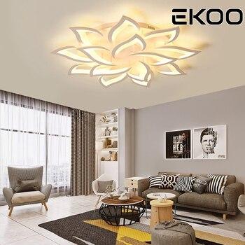 EKOO Moderna LED Del Fiore Del Giglio A Soffitto In Acrilico Luci Di Casa Apparecchi Di 3 Di Colore Dimmerabile Con Remoto Per Corridoio, Corridoio, Balcone Ecc.