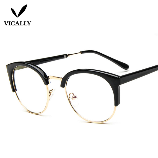 Mode Kacamata Anti-radiasi Kaca Polos Bingkai Kacamata Wanita Setengah  Lingkaran Bingkai Kacamata Anti Radiasi c08c1767ad