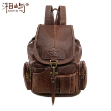 Новинка 2017 года Винтаж супер люкс Для женщин рюкзак кожаный Для женщин Школа сумка для путешествий Рюкзаки для Обувь для девочек