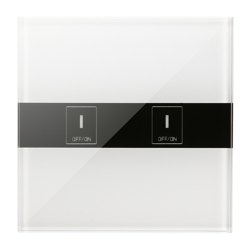 EL-02 2 Gang AC 90-250V 2A 400w 86 Type EU UK Smart WiFi Touch Light Wall Switch Module Wireless Remote Control Switch ON OFF smart home us black 1 gang touch switch screen wireless remote control wall light touch switch control with crystal glass panel