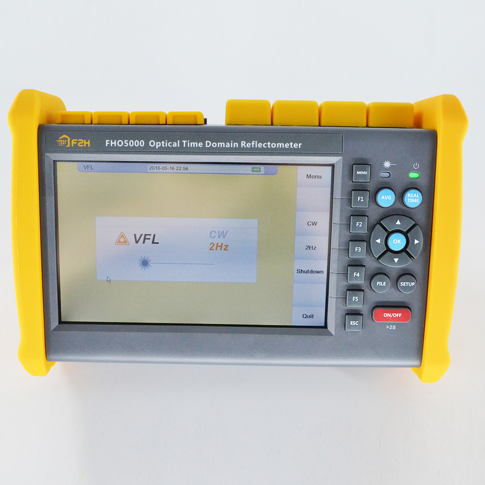 7 inch SM OTDR FHO5000 D26 1310 1550nm 26 24dB built in Visual Fault Locator power meter with Optical eye in Fiber Optic Equipments from Cellphones Telecommunications