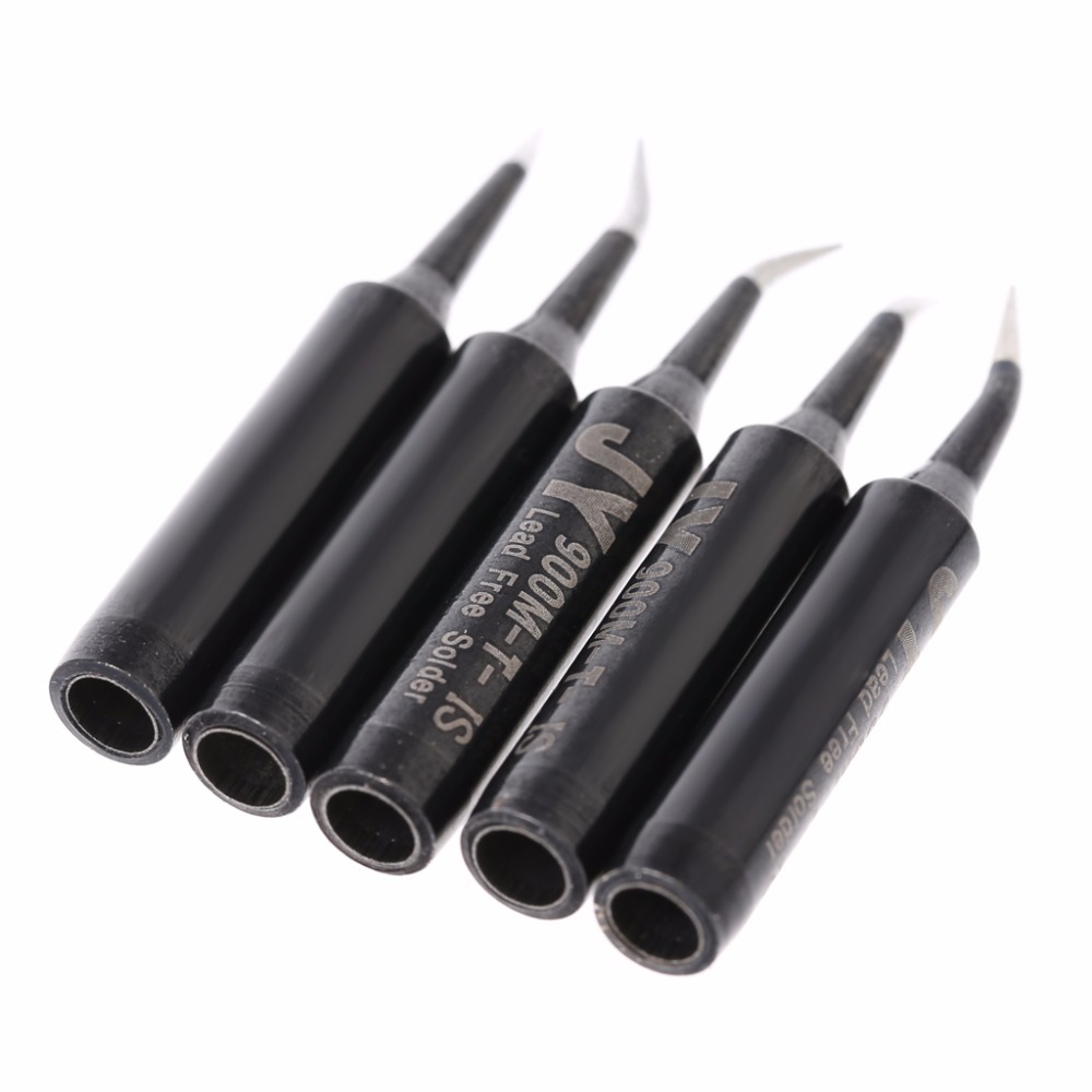 New 5 Pcs 900M-T-1C Copper Replacement Bevel Style Soldering Iron Solder Tip Lead-free For Hakko 936  6 Pattern