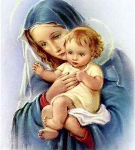 Фото Девы Марии Алмазная вышивка &quotИисус&quot Христос ребенок религиозные картины DIY 3d