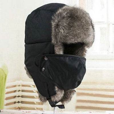 New Unisex Men Winter Trapper Aviator Trooper Earflap Warm Hat With Mask