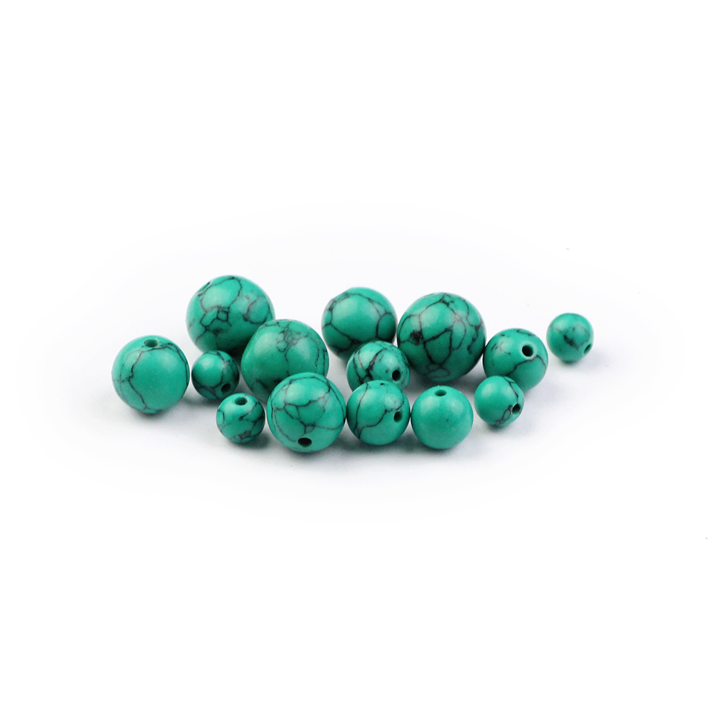 WLYeeS Factory price Green Beads Natural stone 6 8 10 12mm Selectable size Round Loose beads for jewelry Bracelet Making DIY 15 quot in Beads from Jewelry amp Accessories