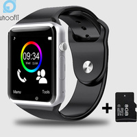 Free Shipping WristWatch Bluetooth Smart Watch Sport Pedometer With SIM Camera Smartwatch For Android Smartphone Russia