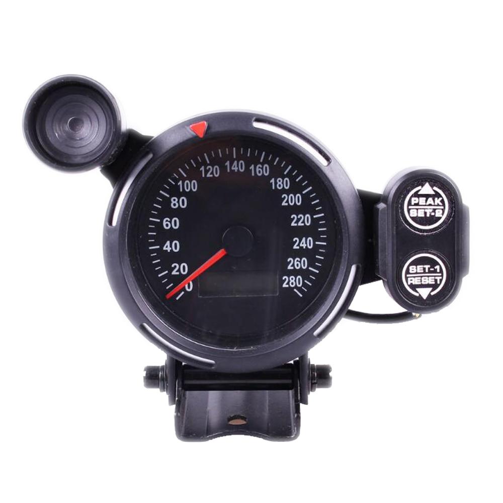 280 Mph Digital Car Speedometer Gauge Lcd Display With