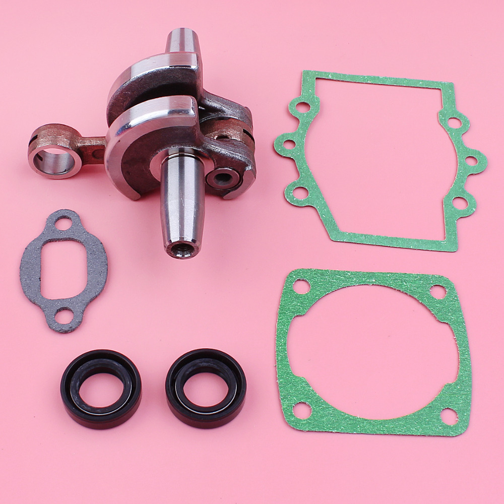 US $23 98 12% OFF Crankshaft with Crankcase Cylinder Muffler Gasket Oil  Seal Kit For Robin NB411 CG 411 2 Stroke Brush Cutter Trimmer Engine  Part-in