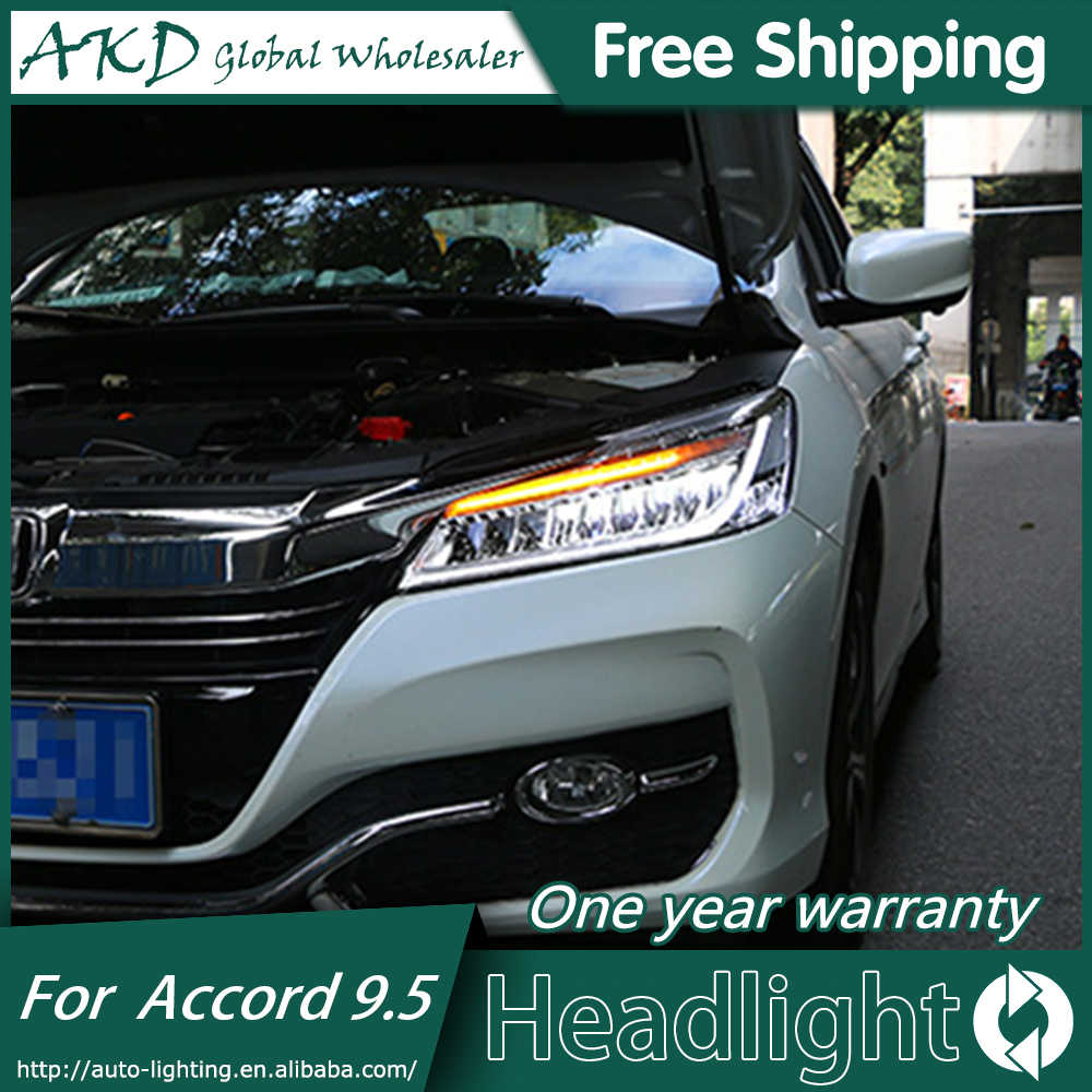 Akd Car Styling For Honda Accord Headlights 2016 2017 New 9 5 Led Headlight