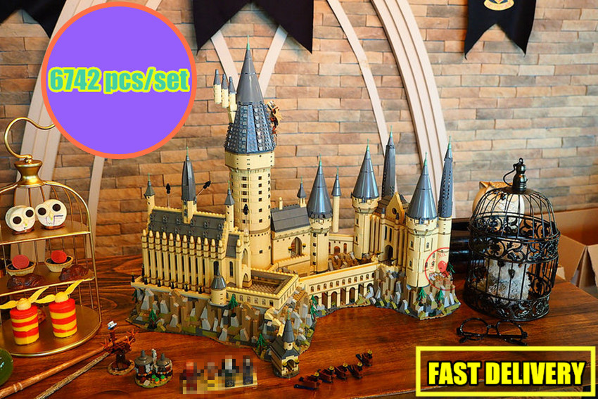 New Harry Magic Hogwarts Castle fit legoings harry potter castle Building Blocks Bricks Kid 71043 kid Educational Toys gift