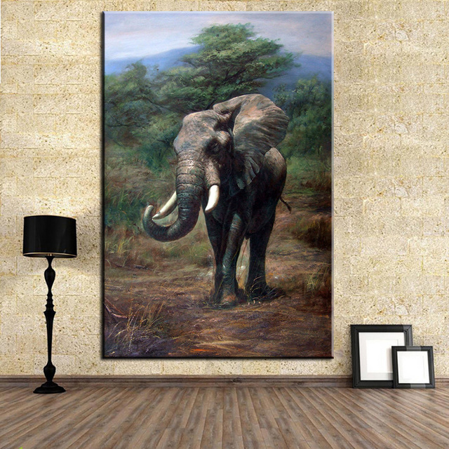 Aliexpresscom Buy DP ARTISAN NO FRAME HUGE elephant ANIMAL ARTS