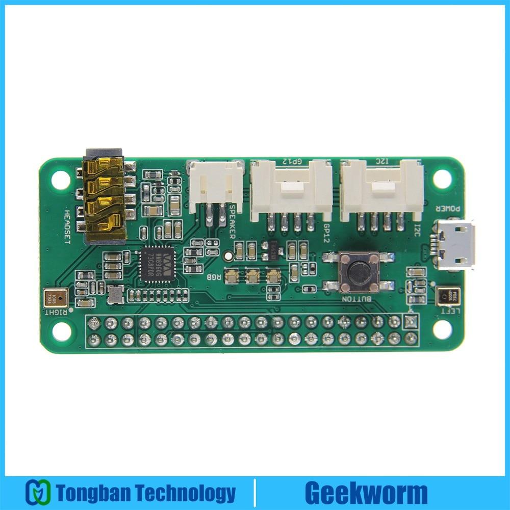 Raspberry Pi Speaker ReSpeaker 2 Mics (Microphone) Pi HAT