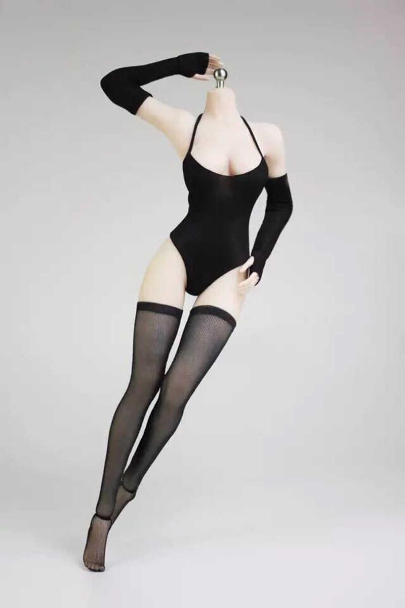 1/6 Skala Seksi Wanita Pakaian Putih/Hitam Baju Renang Bikini Pakaian Dalam PS4 Neil Mekanik Era2B Set Pakaian untuk 12'' gambar Tubuh