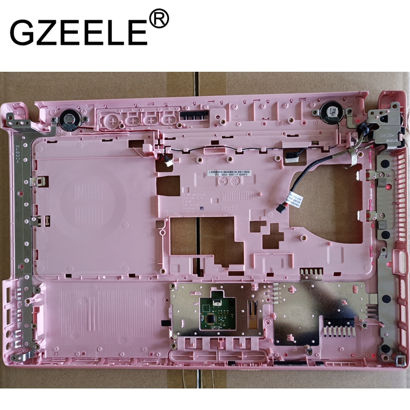 GZEELE NEW FOR Sony Vaio VPCCA palmrest upper case top cover keyboard bezel pink color 012-400A-5887-F