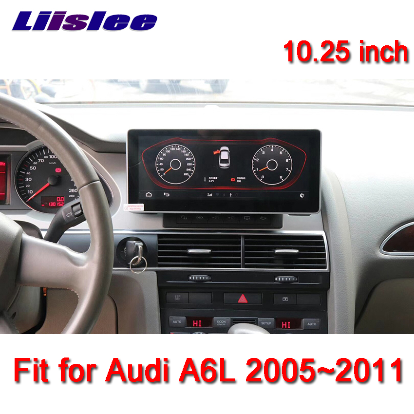 "Liislee 10.25"" Android For Audi A6L 2005~2011 touch screen GPS Navigation radio stereo dash multimedia player"