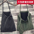 women tote bag suede bag leisure shopping sac big shoulder bags female leather handbags College Students school book bags retro