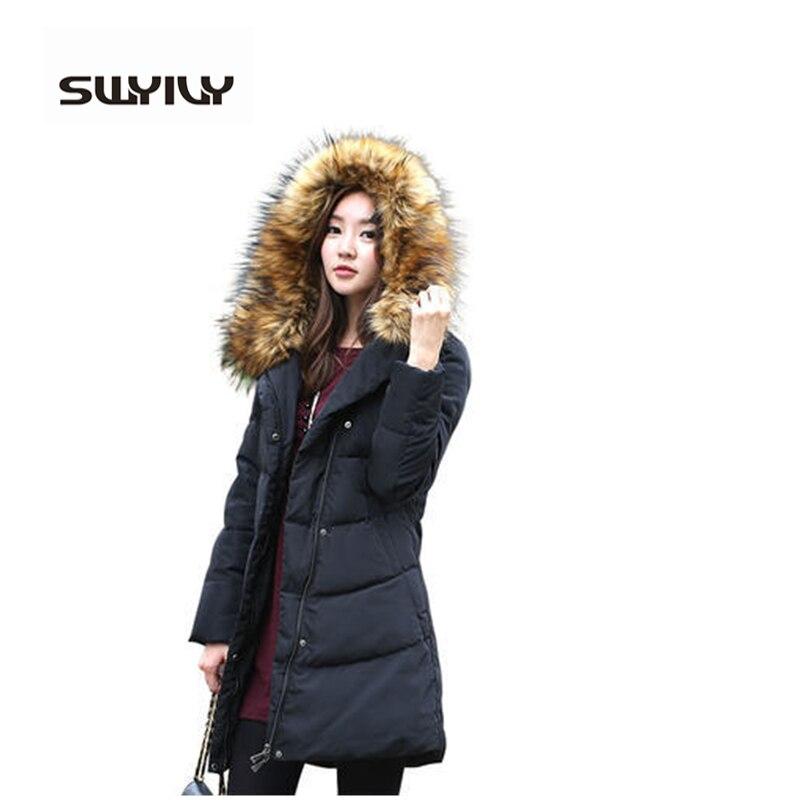 5xl 6xl Big Size Down Women Fur Collar Thick Hoodies Winter Coat Female Sobretudos Femininos Overcoat