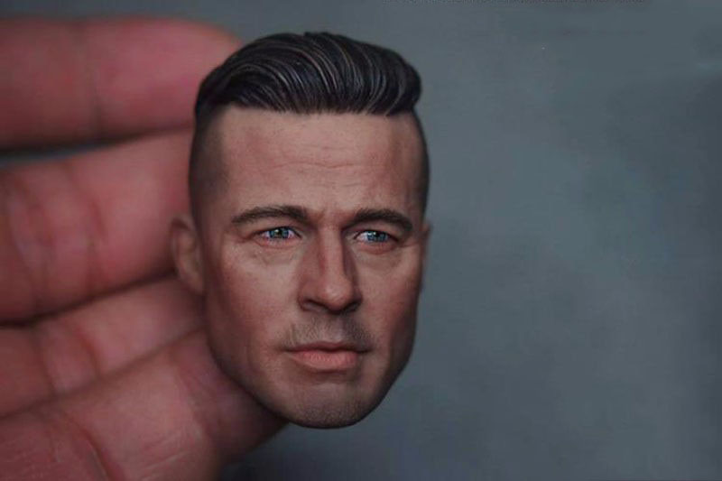 Brad Pitt 1/6 Scale Male Head Sculpts Model Toys Man Head Carving For 12