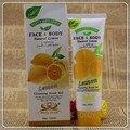 100 ml rosto corpo natural lemon gel de limpeza esfoliante