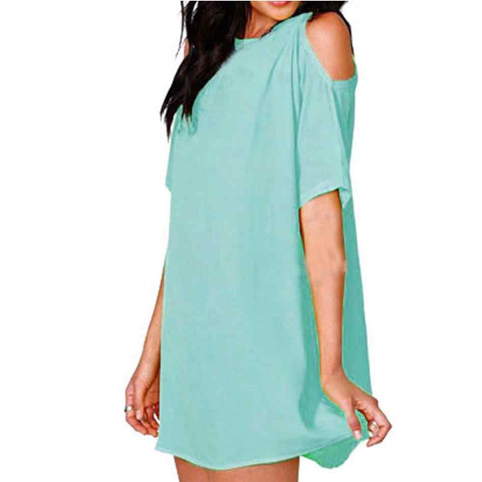 b971f0ca34 Solid Off Shoulder Plus Size 3XL Sundress Mini Dress 2019 Summer Style 8  colour Women Sexy Dresses Vestidos beach dress tunic