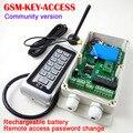Frete grátis GSM-KEY-ACCESS DC12V gsm portão opener com teclado remoto teclado de controle de acesso de mudança de senha / dois saída de relé