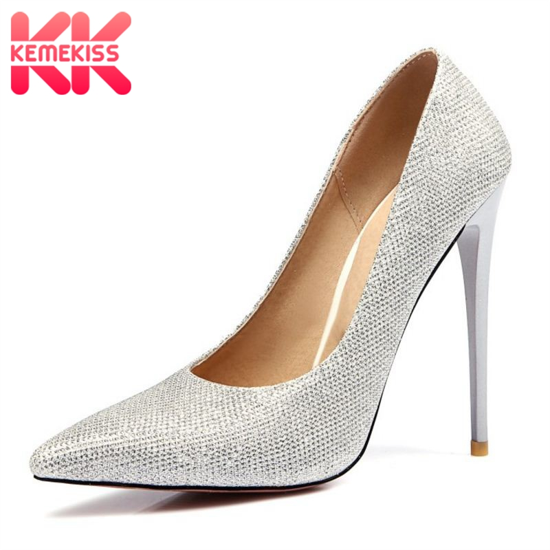 KemeKiss Size 34-47 Ladies Thin High Heel Shoes Women Elegant Pointed Toe Heels Pumps Fashion Woman Stiletto Heeled Shoes Woman серьги с кварцем и бриллиантами из желтого золота valtera 55039