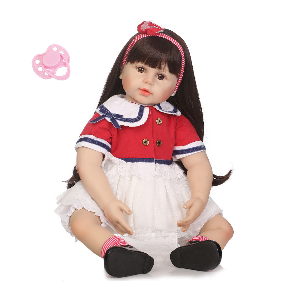 NPKCOLLECTION 24 Silicone Reborn Baby Toddler Princess Dolls with Soft Real Touch Baby Reborn Children Playmate and ToysNPKCOLLECTION 24 Silicone Reborn Baby Toddler Princess Dolls with Soft Real Touch Baby Reborn Children Playmate and Toys