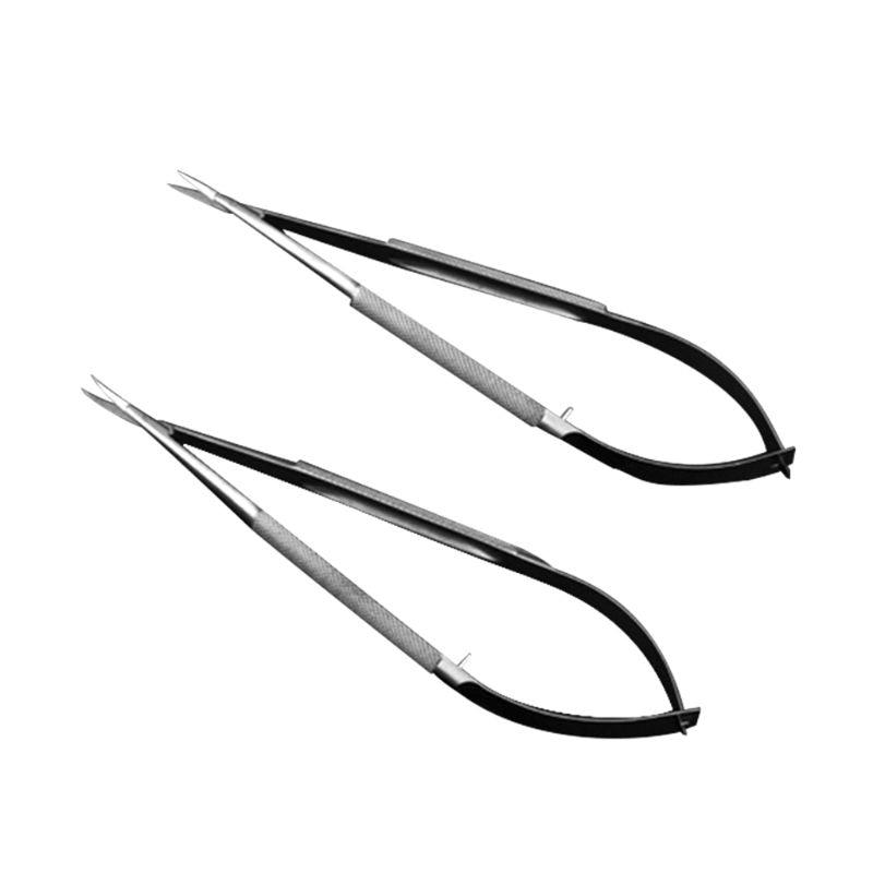 Microscopic Tweezer Tool Scissor Forcep Probe Micro Hook Tweezer Spatula 12cm Stainless Steel