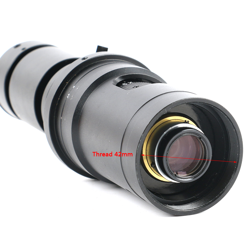 Image 5 - 200X 500X FHD 0.7X 5X Adjustable Magnification Continuously Variable C mount Zoom Lens For HDMI VGA USB Video Microscope Camera-in Lenses from Tools