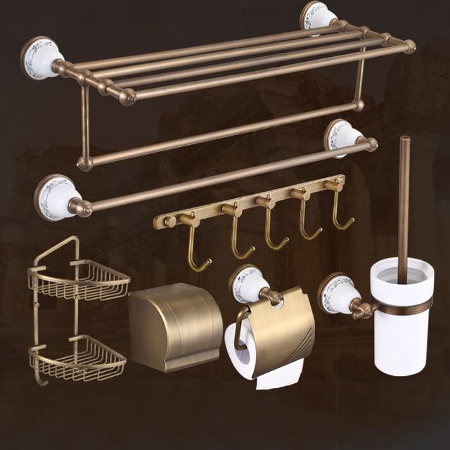 american copper bronze bathroom accessories vintage brushed ceramic bathroom hardware sets wall mount bathroom products w35 - Bathroom Accessories Vintage